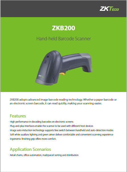 ZKB200 Barcode Scanner | POS Accessories